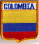 Colombia Embroidered Flag Patch, style 06.